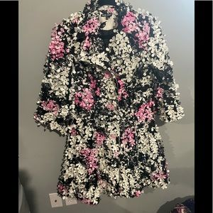Samuel dong xs floral trench coat